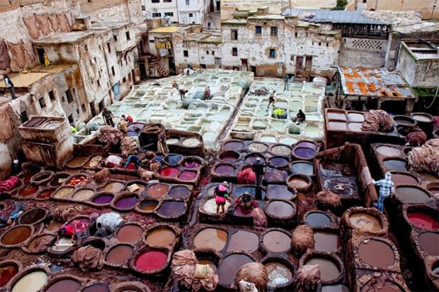 Cea mai veche vopsitorie de piele din lume - Les - Maroc